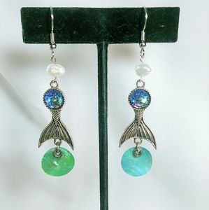 Jewelry - Mermaid Tail Faux Shell Earrings